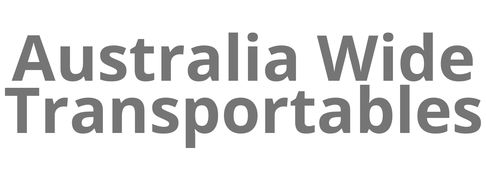 Australia Wide Transportables